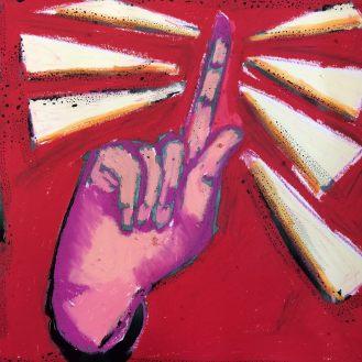 Objection. neopastels, watercolor